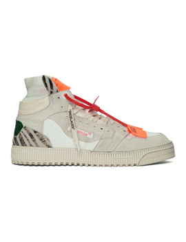 White & Green Glitter Off Court 3.0 Sneakers by Off White