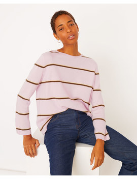 Cashmere Stripe Slouchy Jumper by Jigsaw