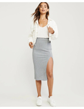 Knit Midi Skirt by Abercrombie & Fitch