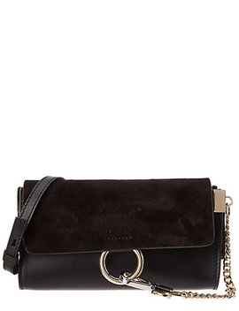 Chloé Faye Mini Leather & Suede Wallet On Chain by Chloe