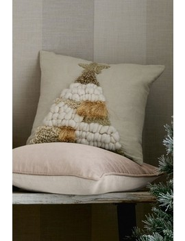 Textured Tufted Tree Cushion by Next