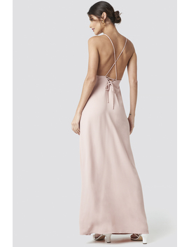 Tie Back Maxi Dress Rosa by Na Kd Party