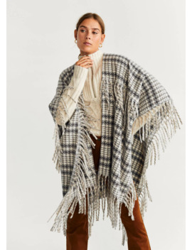 Poncho Franges by Mango