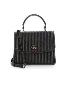 Parker Rivets Quilted Leather Top Handle Bag by Coach
