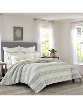 Relax By Tommy Bahama Beachside Stripe Beige Comforter Set by Generic