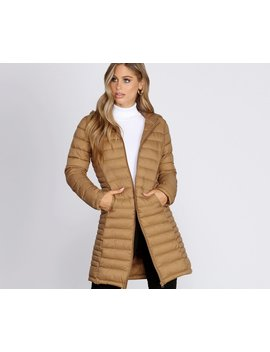 Long Puffer Hooded Jacket by Windsor