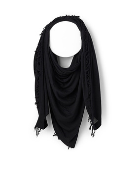 Oversized Fine Knit Scarf by Rick Owens
