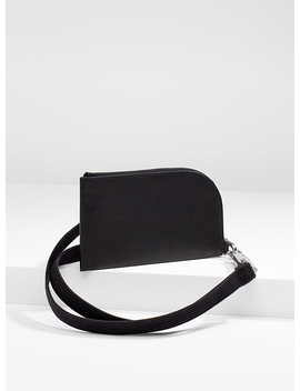 Wallet With Strap by Rick Owens