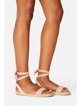 June Bloom Ankle Tie Flat Sandal by Justfab