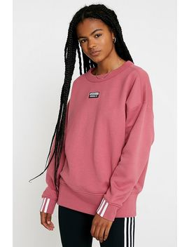 Adidas Originals Vocal Pink Crew Neck Sweatshirt by Adidas Originals