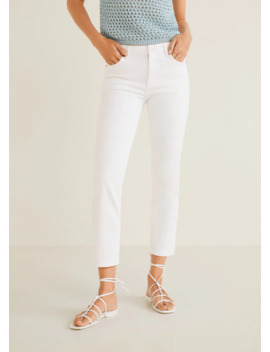 Texans Slim Cropped Grace by Mango