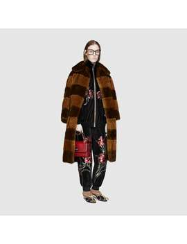 Chenille Jogging Pants With Floral Patches by Gucci