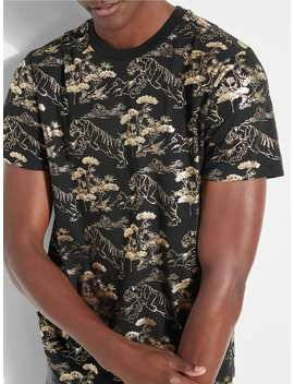 All Over Print T Shirt by Guess