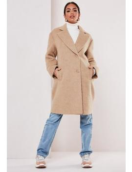 Sand Short Hair Formal Coat by Missguided