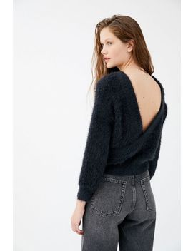 Uo Elsa Fuzzy Surplice Back Sweater by Urban Outfitters