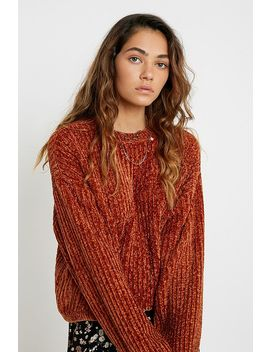 Uo Plush Crew Neck Bronze Jumper by Urban Outfitters