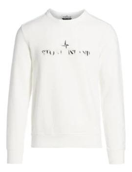 Burnout Logo Sweatshirt by Stone Island