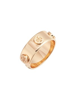 Delicate Logo Ring by Tory Burch