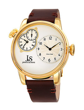 Joshua & Sons Men's Leather Watch by Joshua & Sons