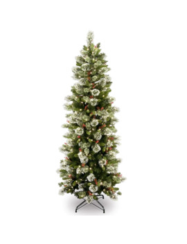 6.5ft. Pre Lit Wintry Pine® Artificial Christmas Tree, Clear Lights by National Tree Company