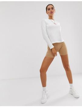 Calvin Klein Jeans   T Shirt à Manches Longues Avec Logo Brodé by Calvin Klein Jeans