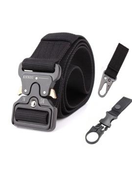 Nylon Tactical Belt Army Belt Men Outdoor Training Belts Black High Quality Easy Unlock Metal Military Buckle Belt by Ali Express.Com