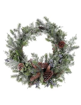 "24"" Berry, Pinecone & Boxwood Wreath By Ashland® by Ashland"
