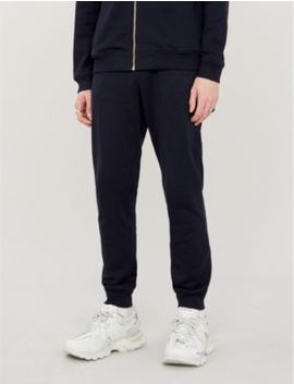 Baroque Print Cotton Jersey Jogging Bottoms by Versace