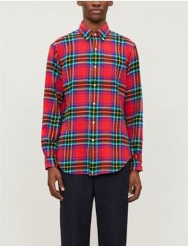 Checked Custom Fit Cotton Shirt by Polo Ralph Lauren