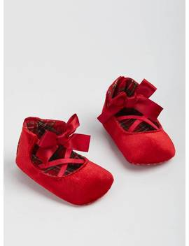 Red Velvet Ballet Shoes   6 9 Monthstuc135756391 by Argos