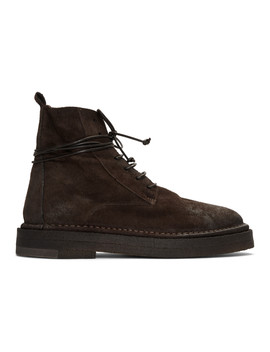 Brown Parapa Anfibio Boots by MarsÈll