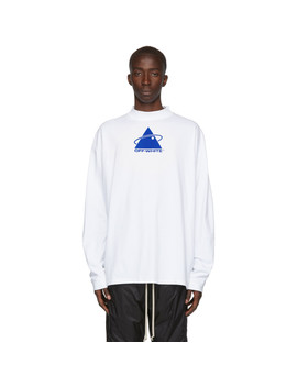 T Shirt à Col Cheminée Blanc Triangle Plant by Off White
