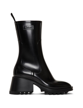 Black Pvc Betty Rain Boots by ChloÉ