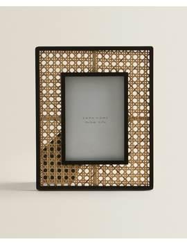 Rotan Fotolijst Met Zwarte Rand  Fotolijsten   Decoratie En Accessoires   Shop Op Product by Zara Home