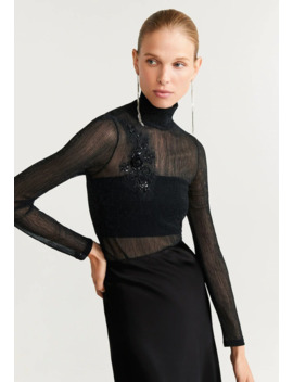 Bripatch   Long Sleeved Top by Mango
