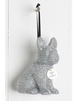 Sparkle Bulldog Hanging Decoration by Next