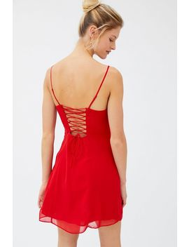 Uo Juno Tie Back Mini Dress by Urban Outfitters