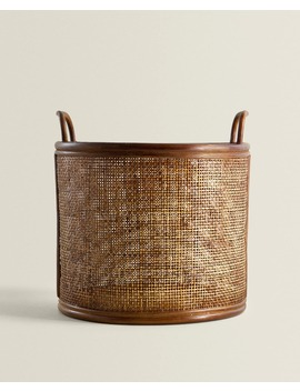Rotan Mand Met Hengsels  Manden   Decoratie En Accessoires   Shop Op Product by Zara Home