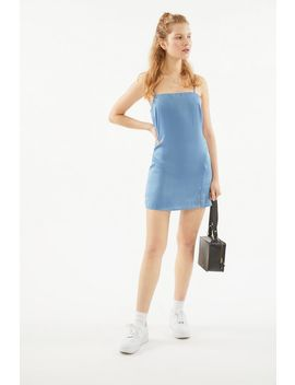 Uo Palermo Straight Neck Slip Mini Dress by Urban Outfitters
