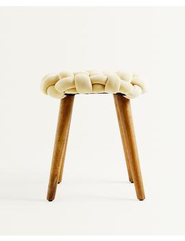 Gevlochten Kruk  Meubels   Decoratie En Accessoires   Shop Op Product by Zara Home