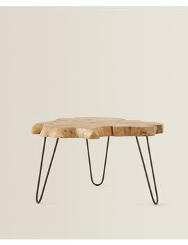 Teakhouten Tafel Met Onregelmatige Vorm  Meubels   Decoratie En Accessoires   Shop Op Product by Zara Home