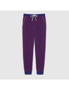Gg Wool Trousers by Gucci