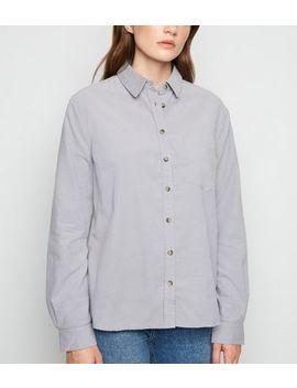 Grey Corduroy Long Sleeve Shirt by New Look