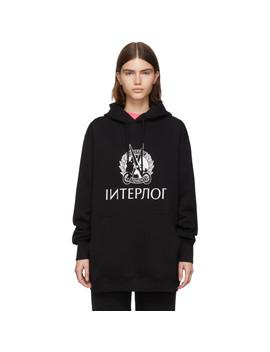 Black Interpol Hoodie by Vetements