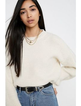 Uo Fisherman Crop Sweater by Urban Outfitters