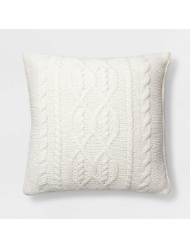 Cable Knit Chenille Throw Pillow   Threshold™ by Shop This Collection