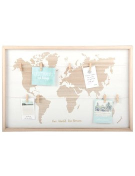 World Map Photo Montage Frame 60x40   Wooden by Maisons Du Monde