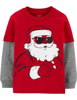 Carter's          Santa Layered Look Jersey Tee by Carters