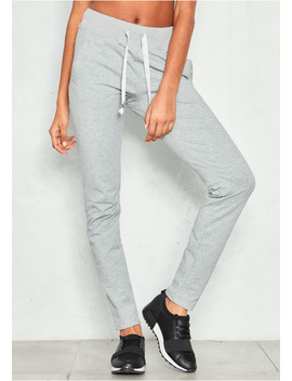 Lilith Grey Ribbon Tie Joggers by Missy Empire