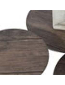 Carbon Loft Searz Coffee Table With Three Multi Round Nesting Side Table by Carbon Loft